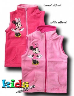 FLEECOVÁ VESTA DISNEY MINNIE vel. 122
