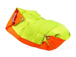 Sedací vak 189x140 duo fluo orange - fluo limet
