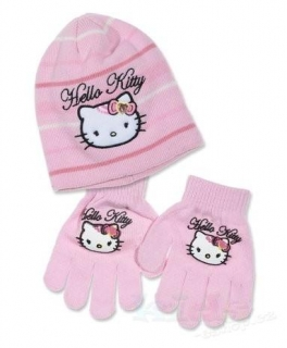 ČEPICE A RUKAVICE HELLO KITTY box f 4295 růžová vel.52