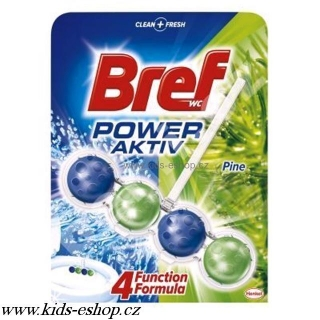 Bref Power aktiv 51g Pine - Freshness wc blok